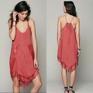Free People | Intimately Eyelash Slip Dress Peachy